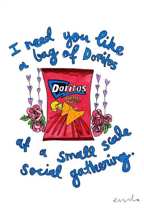 Image of You're My Bag of Doritos Card