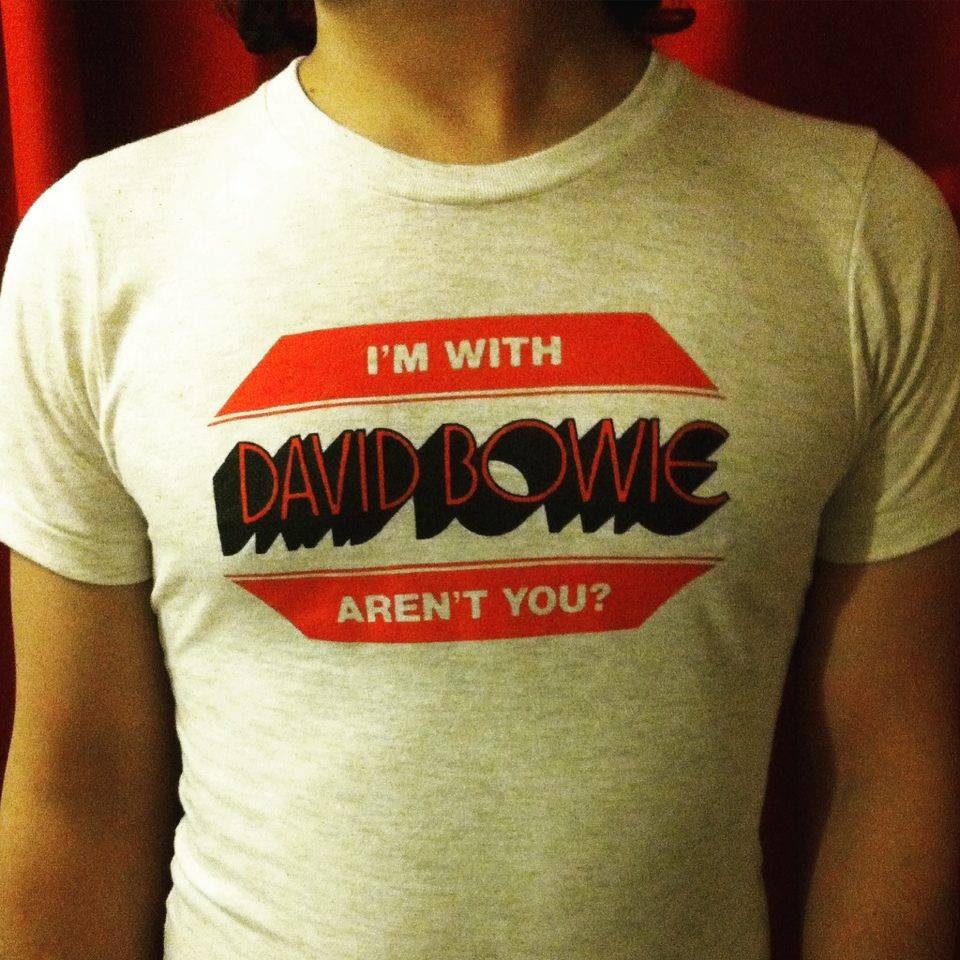 Image of I'm With David Bowie Aren't You? t-shirt