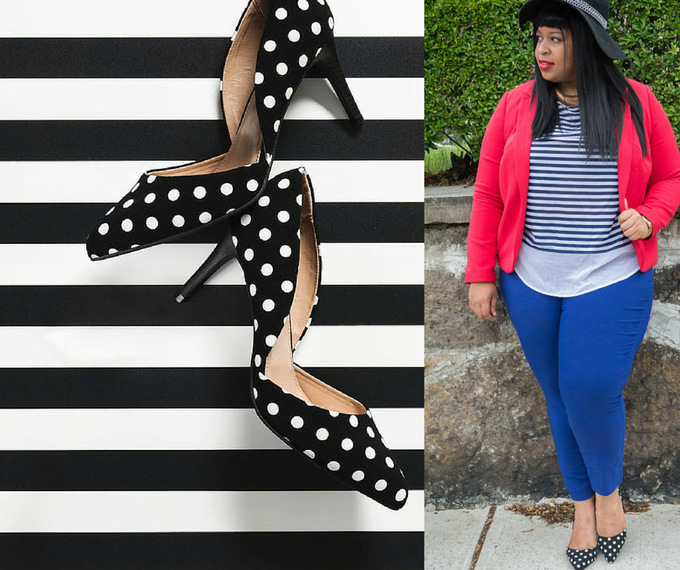 Image of Lane Bryant Polka Dot Pump
