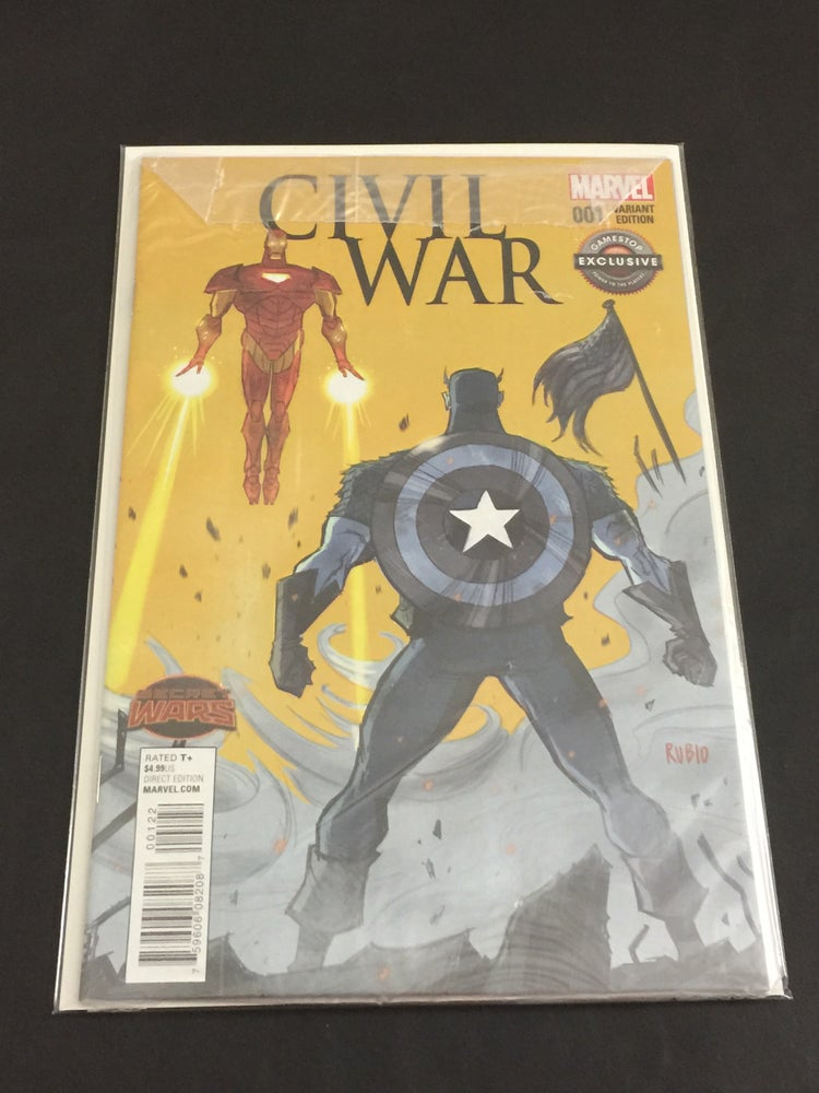 Image of Civil War #1 Bobby Rubio Gamestop Exclusive Variant