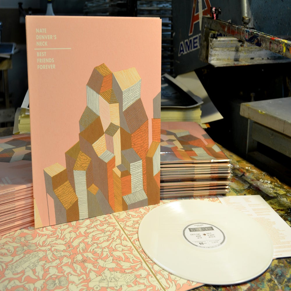 Image of Nate Denver's Neck / Best Friends Forever Split LP (LL-LP-001)