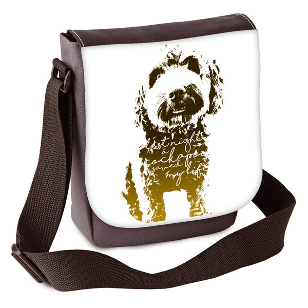 Image of 'Last Night A Cockapoo Saved My Life' Mini Shoulder Bag