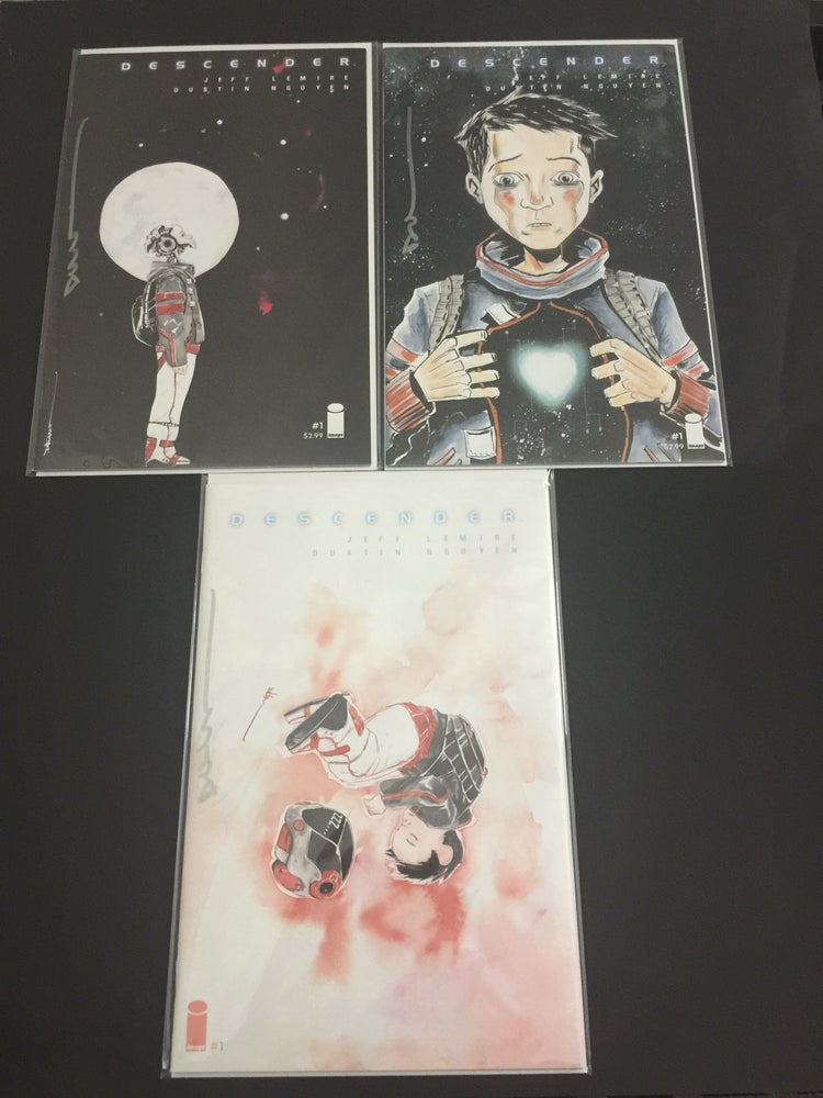 Image of Descender #1 Cover A, B, & Emerald City Comic Con Variant Signed by Dustin Nguyen