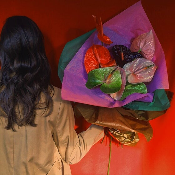 Image of V DAY 'CENTERFOLD' BOUQUET