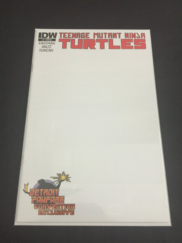 Image of Teenage Mutant Ninja Turtles #1 Detriot Fanfare Exclusive Blank Variant