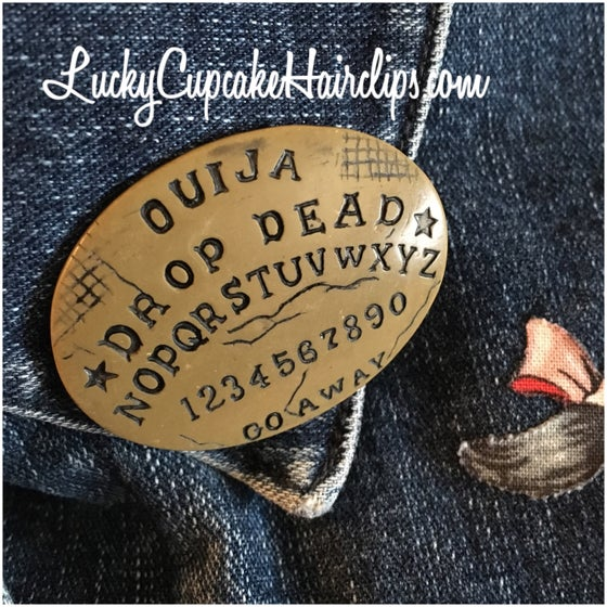 Image of Ouija board inspired pin (two types)