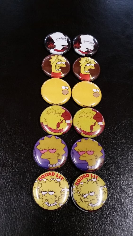 Image of SQUAD LIT DIRTY DOZEN BUTTON SET limited run