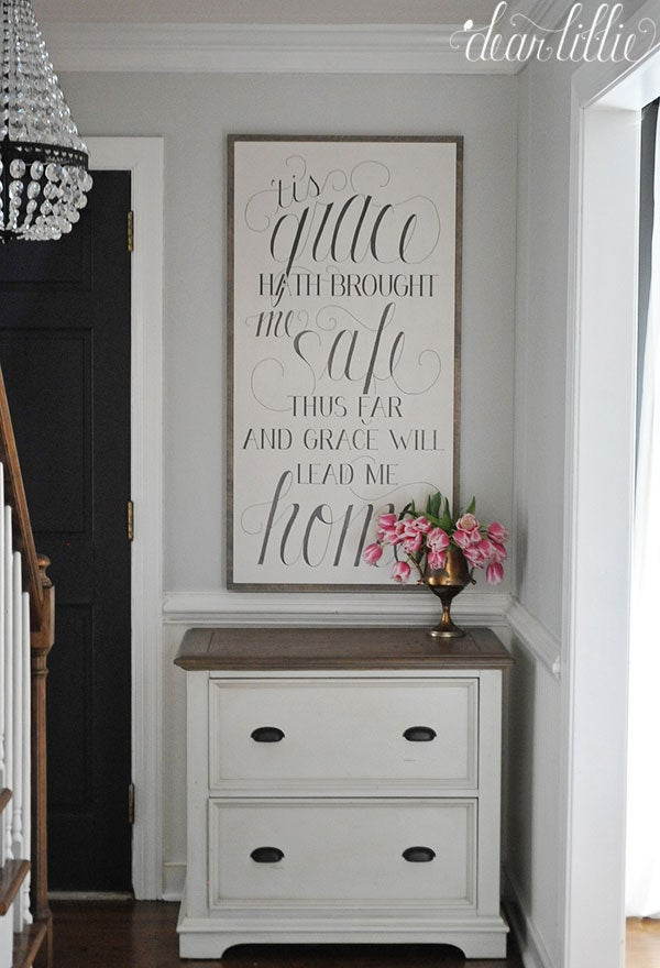 Image of 'Tis Grace Handmade Oversized Wood Sign