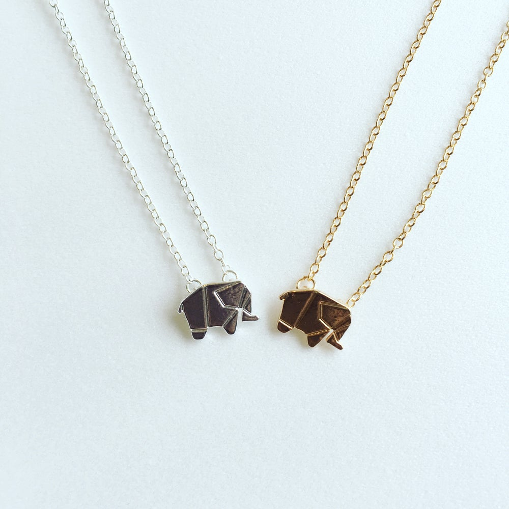 Image of Origami Elephant Necklace