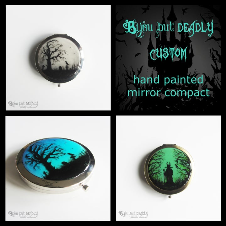 Image of Custom Painted Compact Mirror