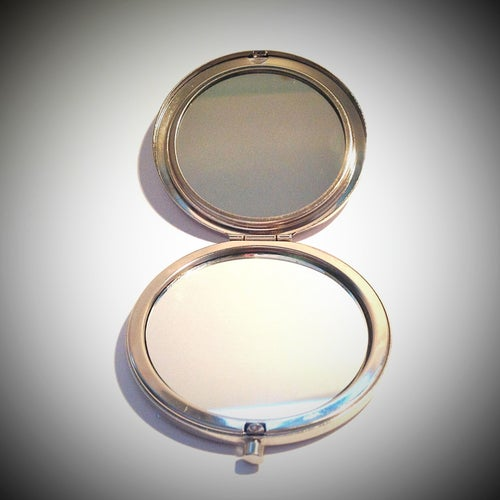 Image of Custom Skull Compact Mirror