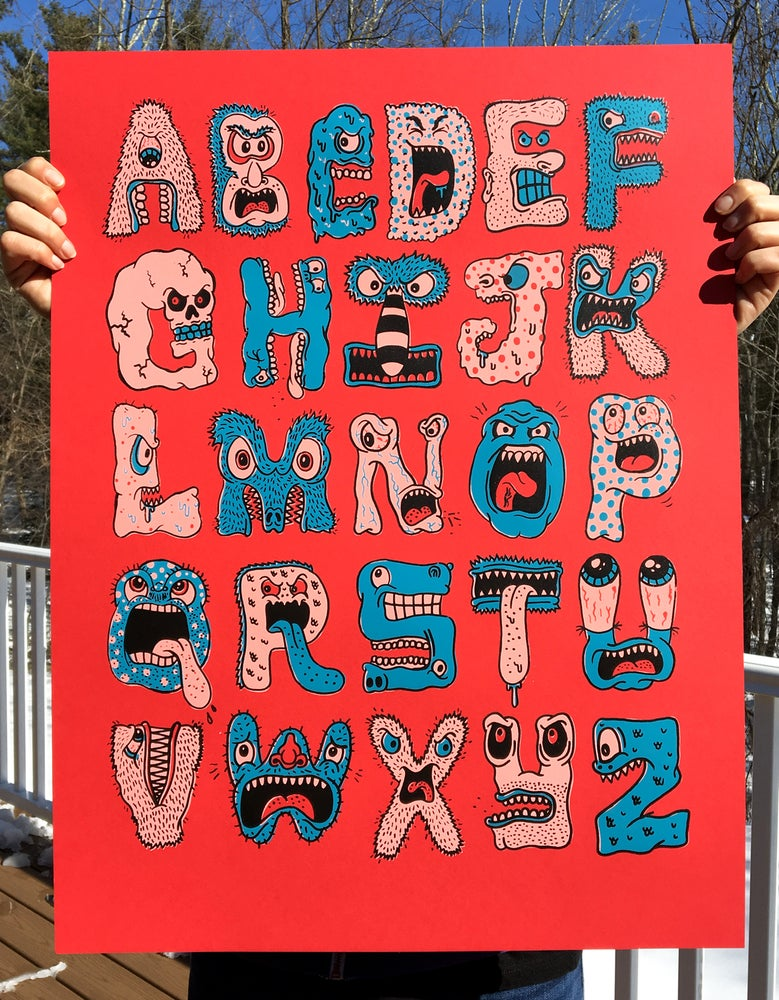 Image of 'Monster Alphabet' serigraph
