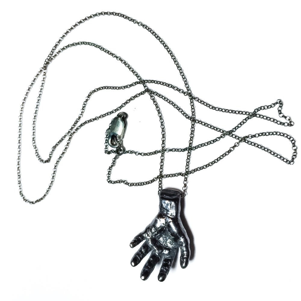Image of Sinister necklace in sterling silver or 14k gold