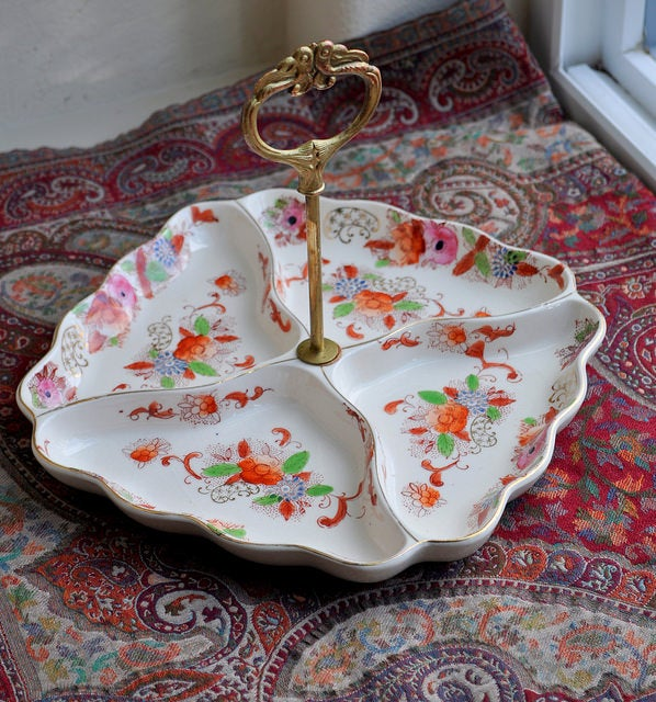 Image of Vintage Japanese Tidbit Tray