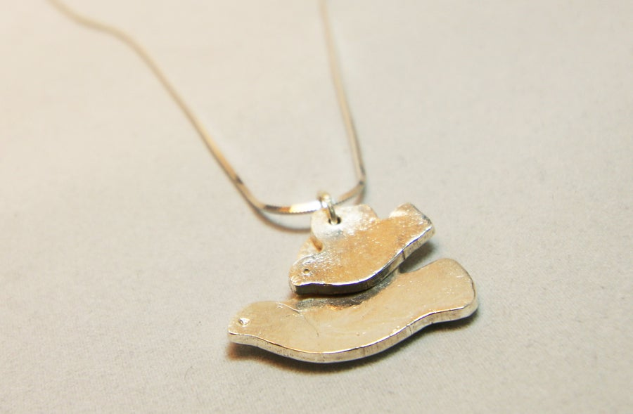 Image of Mother & Baby Bird Necklace