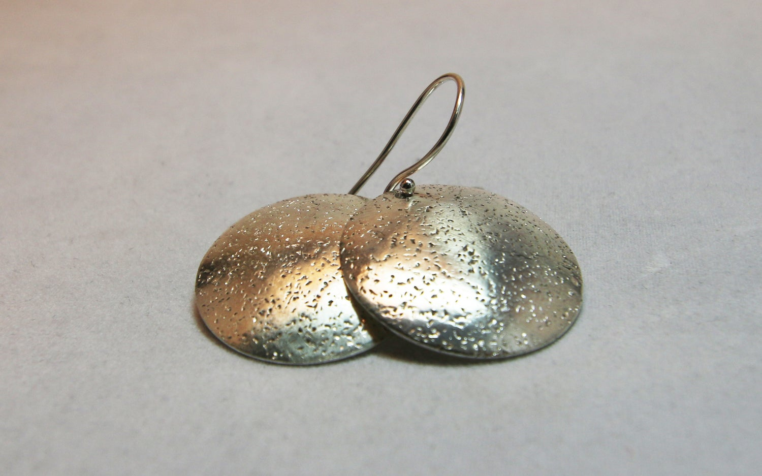 Image of Textured Round Earrings