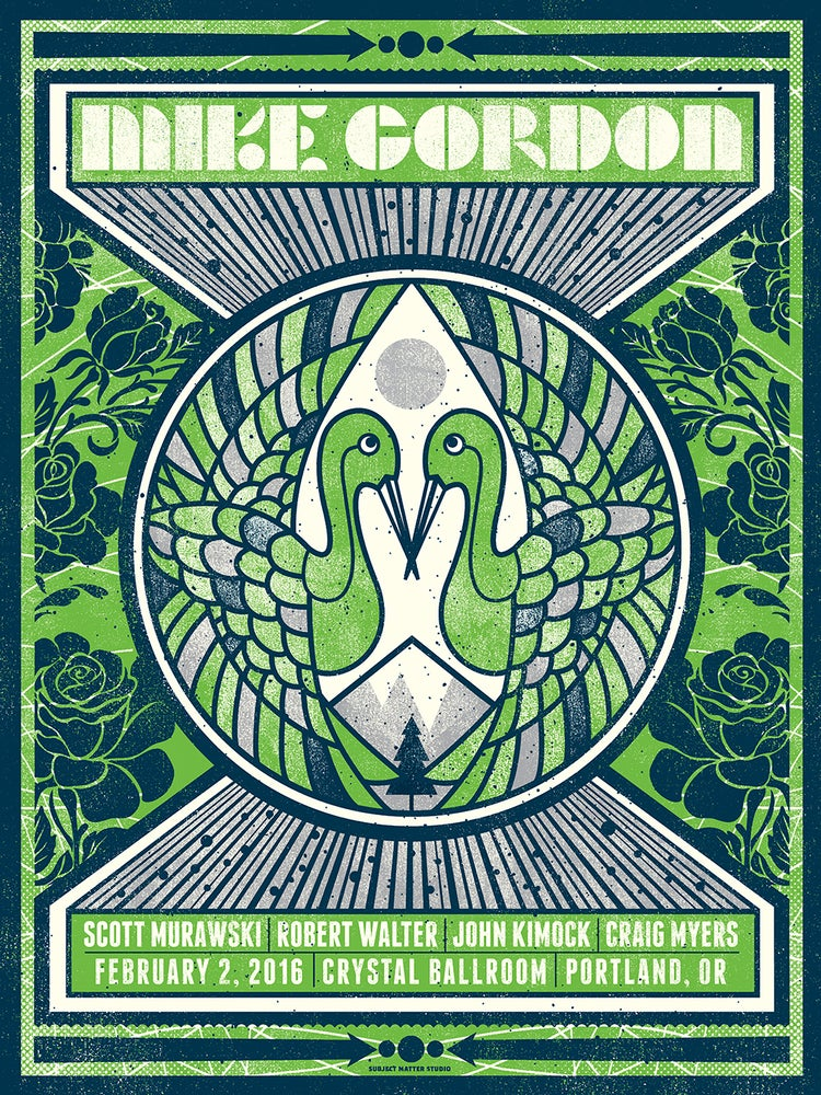 Image of Mike Gordon Concert Poster, Portland, OR
