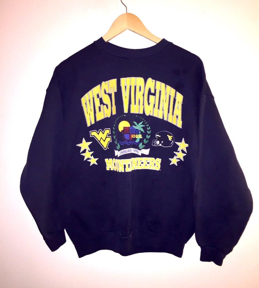 Image of (S/M) Women's NCAA WVU 1995 Car Quest Bowl Crewneck