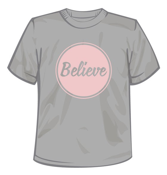 Image of Believe Logo T-Shirt Pink