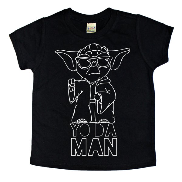 Image of Yo da Man Black Tee