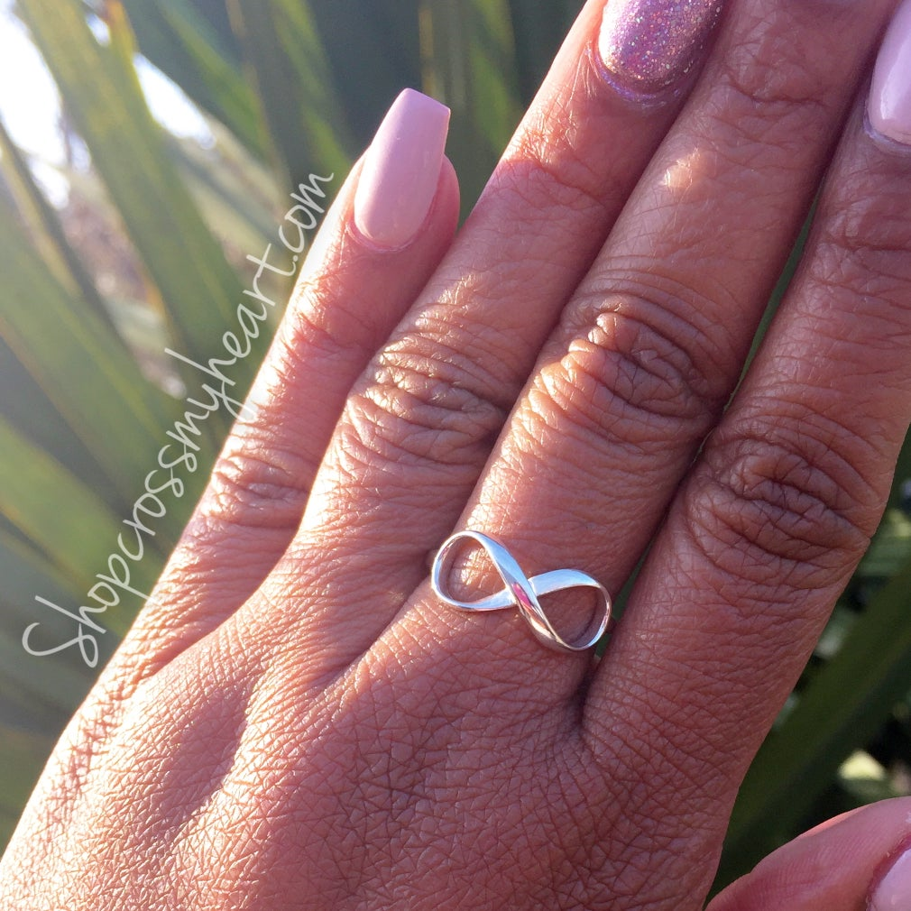 Image of Sterling Silver Infinity Ring