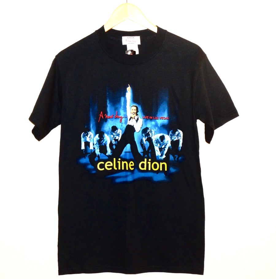 """Image of (S/M) Vintage Celine Dion """"A New Day"""" Live In Las Vegas Tour Tee"""