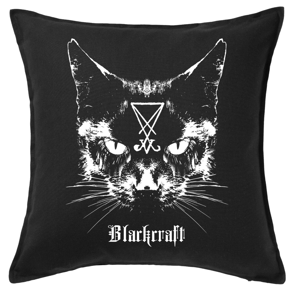 Image of Lucifer The Cat - Throw Pillow