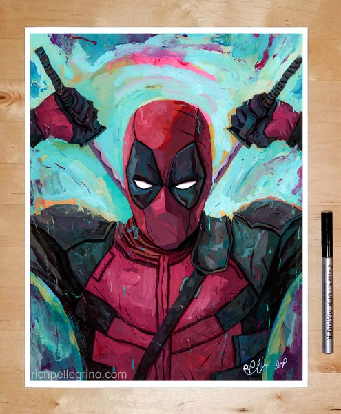 Image of Deadpool 11x14 Print