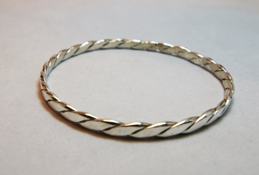 Image of Sterling Silver Small-Medium Twist Bangle