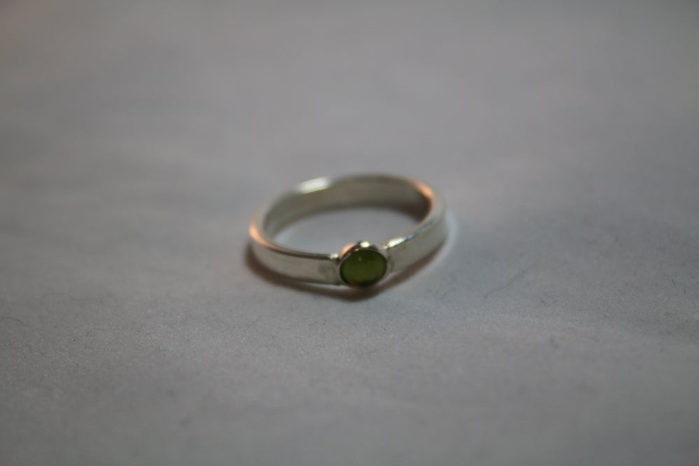 Image of Sterling Silver Small Peridot Ring