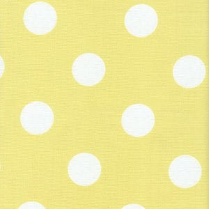 Image of FF Sunny Yellow and White Polka Dot Outdoor Fabric