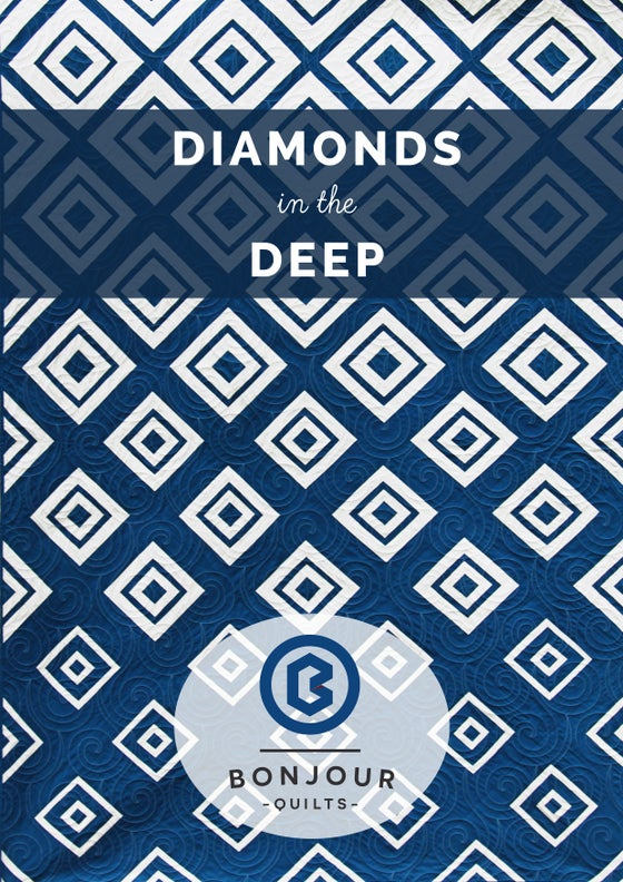 Image of Quilt Pattern PDF - Diamonds in the Deep