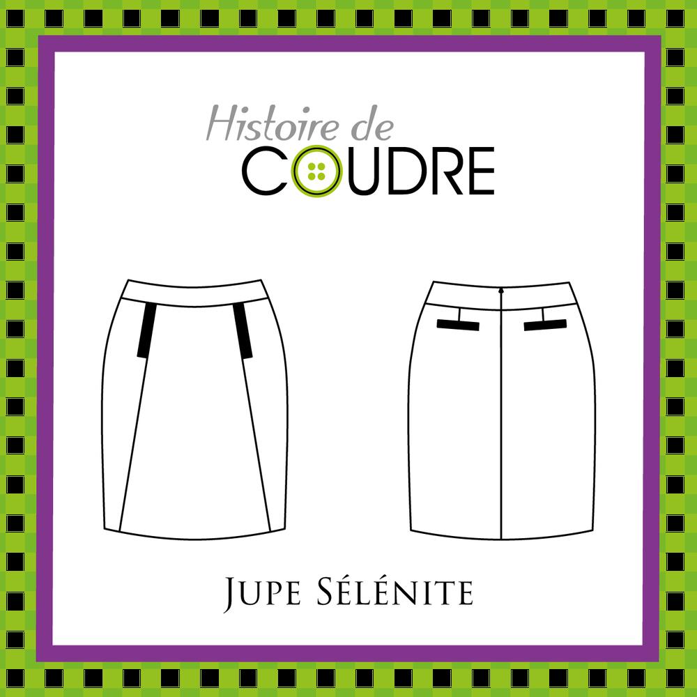 Image of Jupe Sélénite - Patron pochette