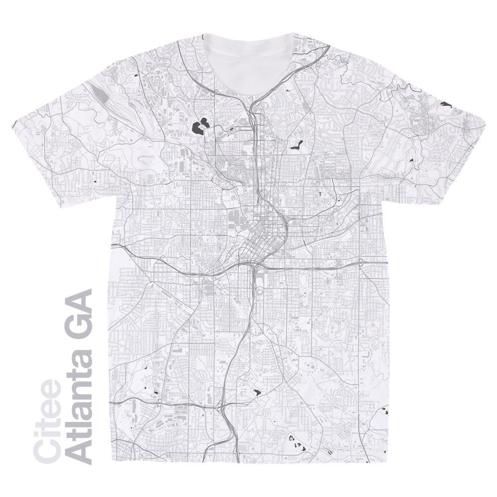 Citee Fashion Atlanta GA Map Tshirt - Ga map