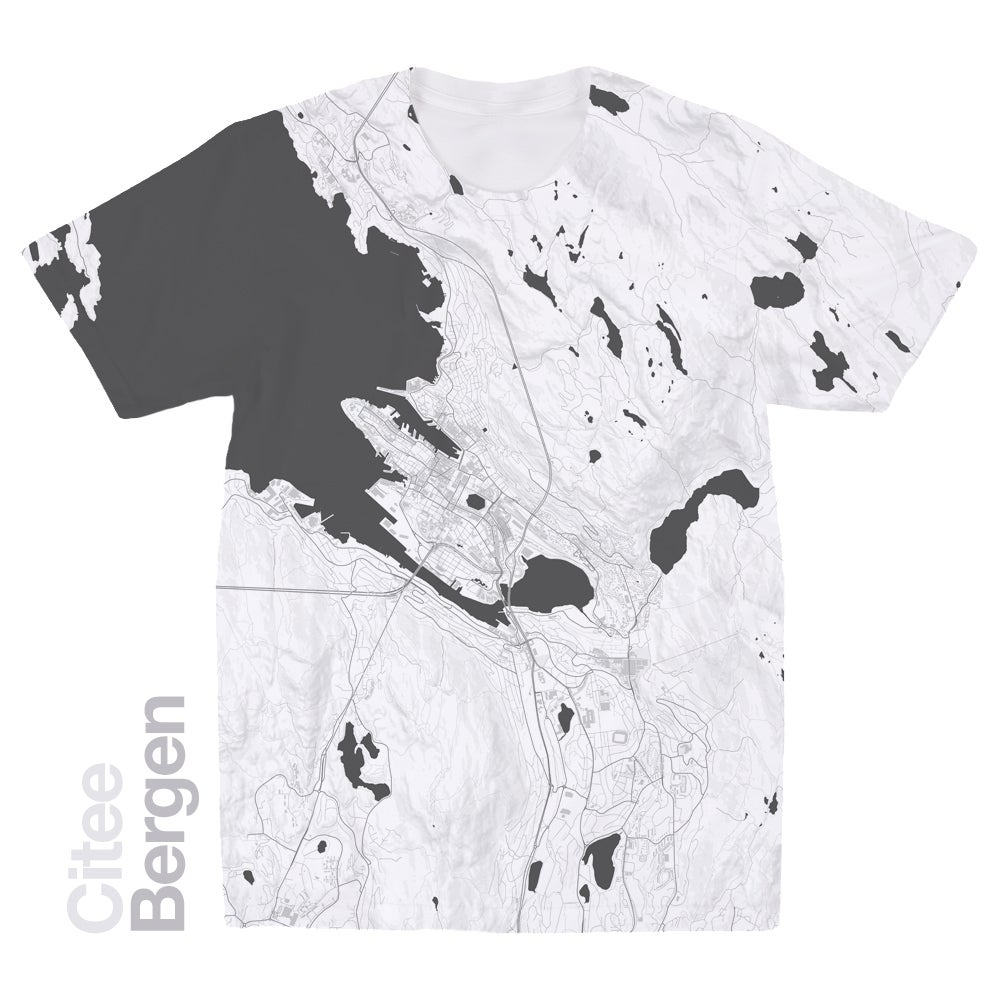 Image of Bergen map t-shirt