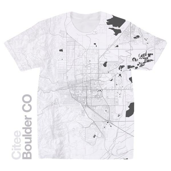 Image of Boulder CO map t-shirt