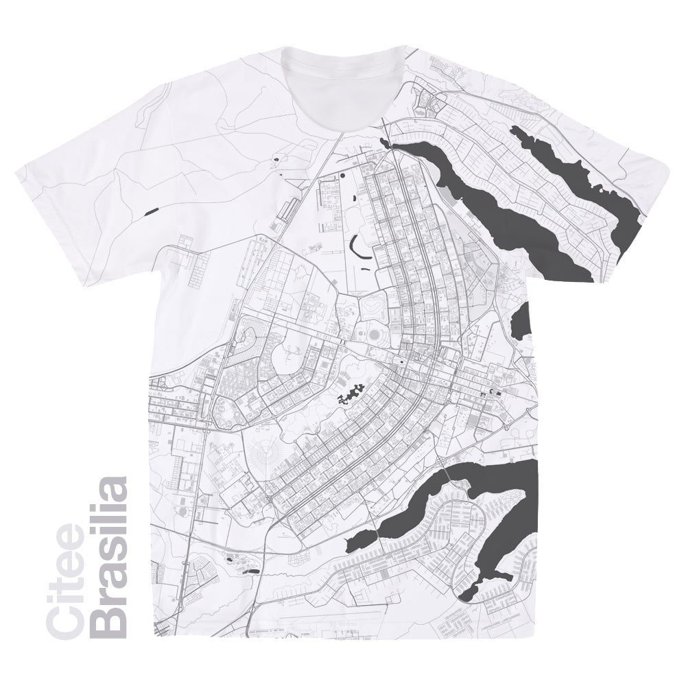 Image of Brasilia map t-shirt