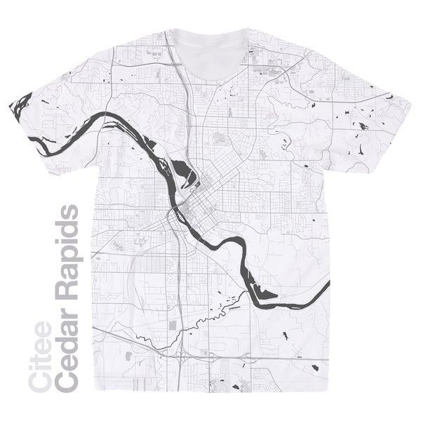 Image of Cedar Rapids IA map t-shirt