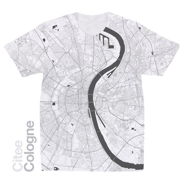 Image of Cologne map t-shirt