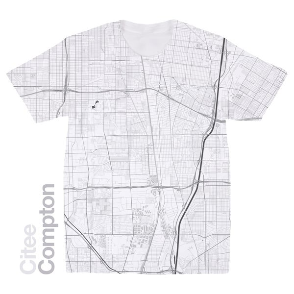 Image of Compton CA map t-shirt
