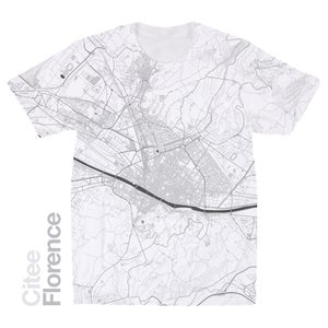 Image of Florence map t-shirt