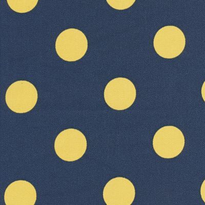 Fabric Freak Ff Navy And Yellow Polka Dot Outdoor Fabric