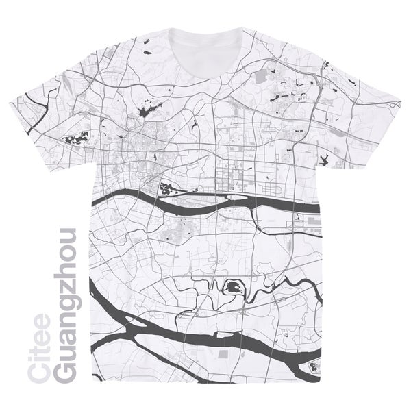 Image of Guangzhou map t-shirt