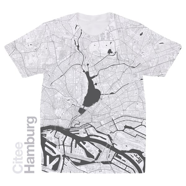 Image of Hamburg map t-shirt