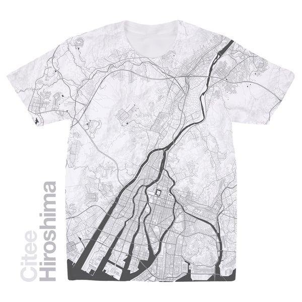 Image of Hiroshima map t-shirt