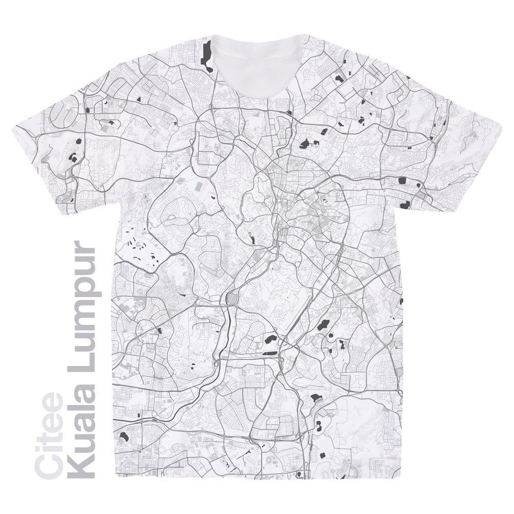 T shirt design kuala lumpur - Image Of Kuala Lumpur Map T Shirt
