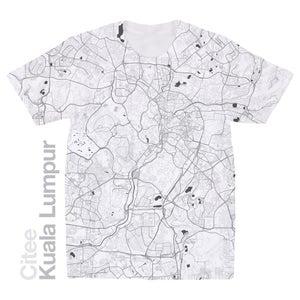 Image of Kuala Lumpur map t-shirt