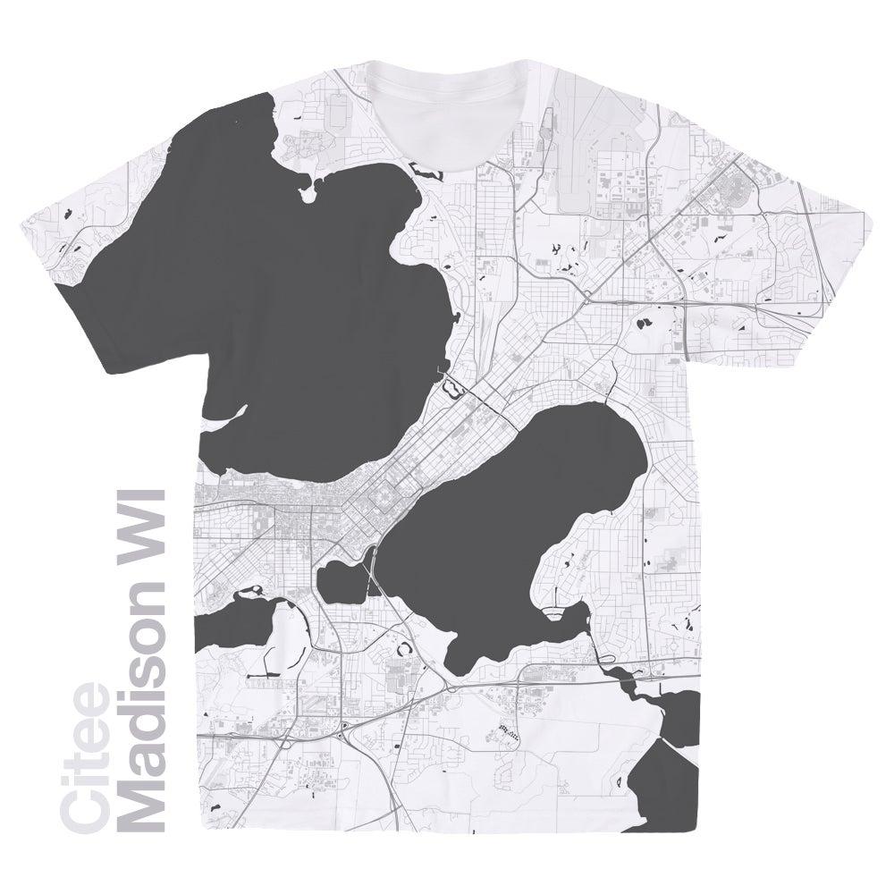 Citee fashion madison wi map t shirt for T shirt printing madison wi