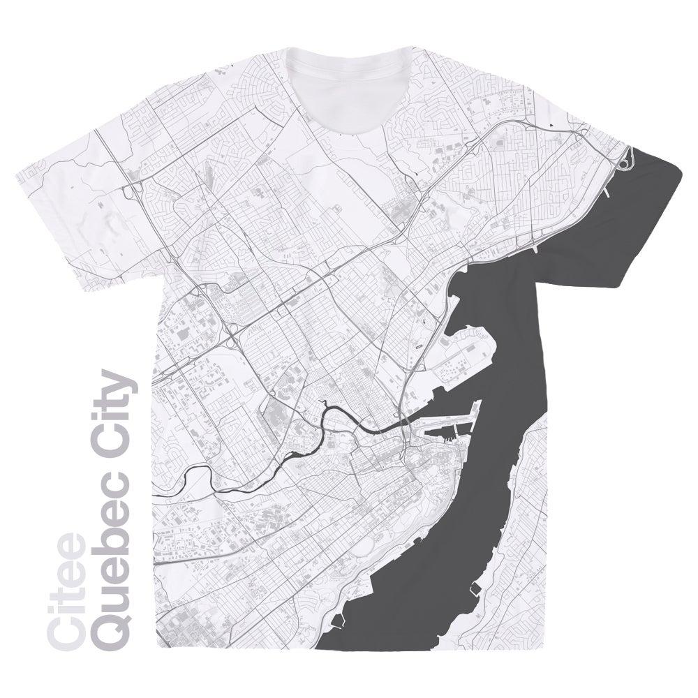 Citee Fashion  Quebec City map tshirt