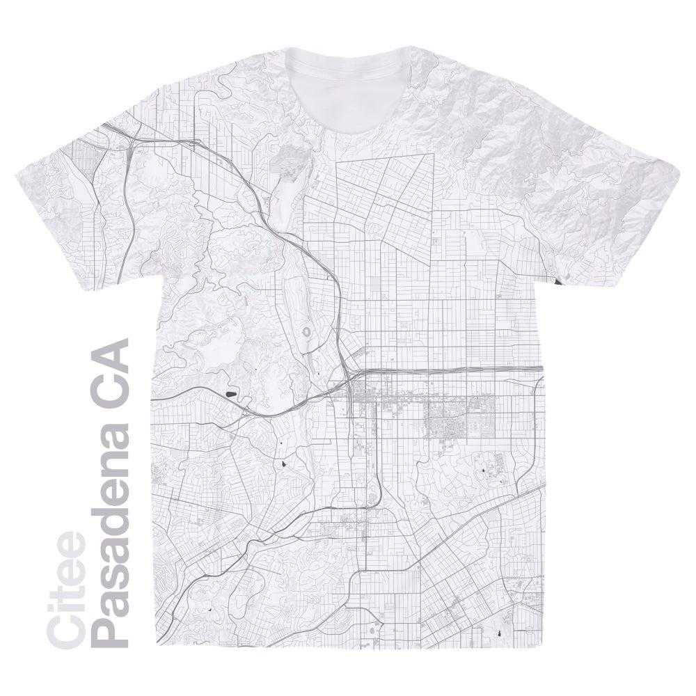 Image of Pasadena CA map t-shirt